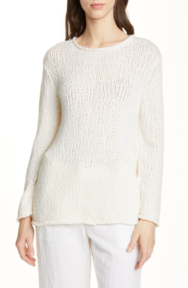 JENNI KAYNE Wool & Silk Blend Sweater, Main, color, IVORY