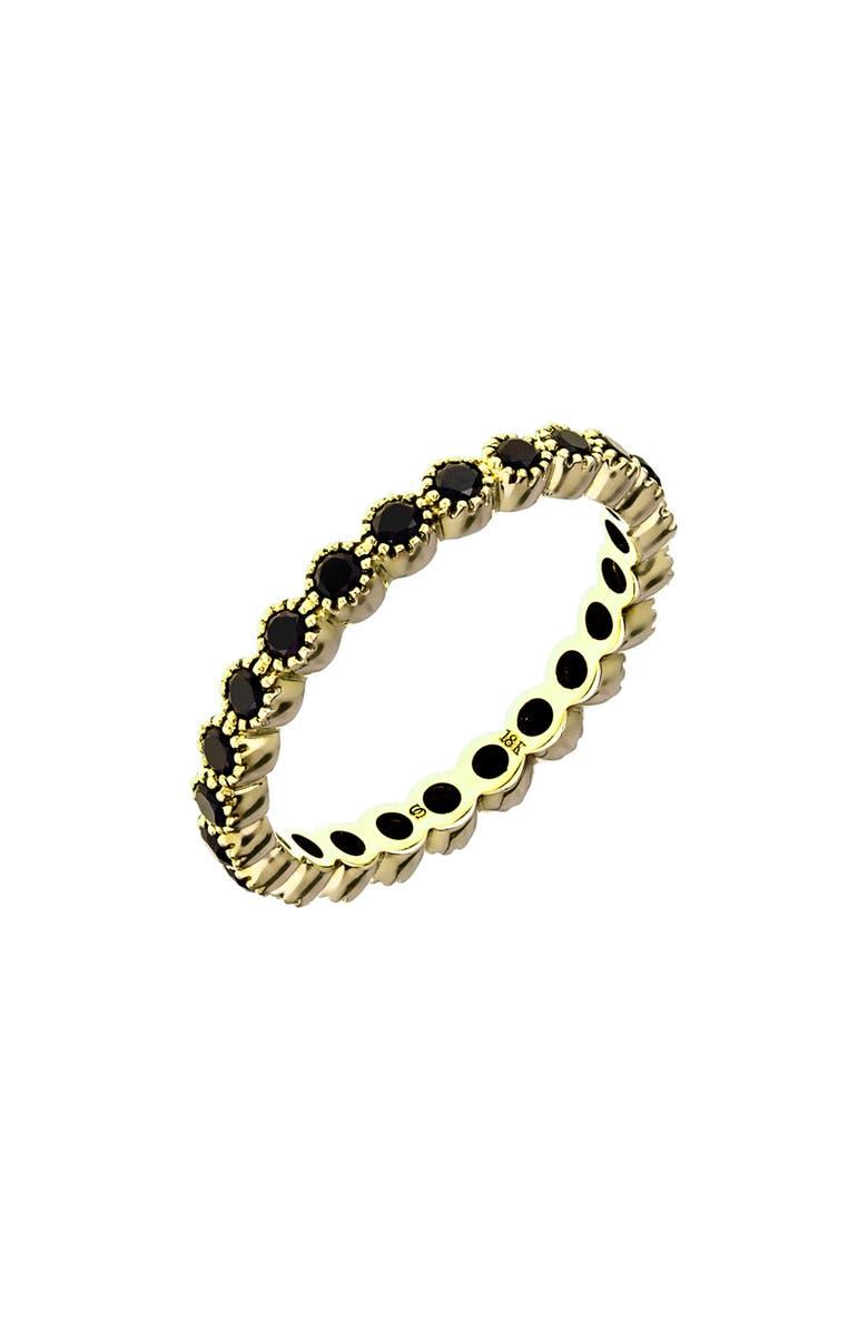 SETHI COUTURE Bezel Set Diamond Stacking Ring, Main, color, GOLD/ BLACK DIAMOND