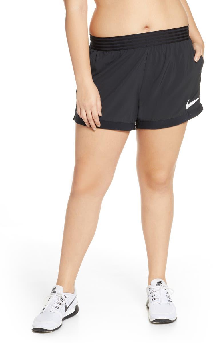 NIKE Flex Training Shorts, Main, color, BLACK/ WHITE