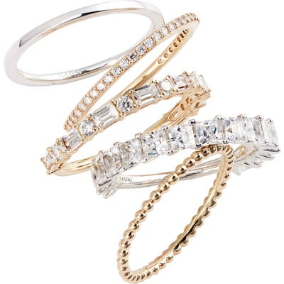 Nadri Set Of 5 Stacking Rings