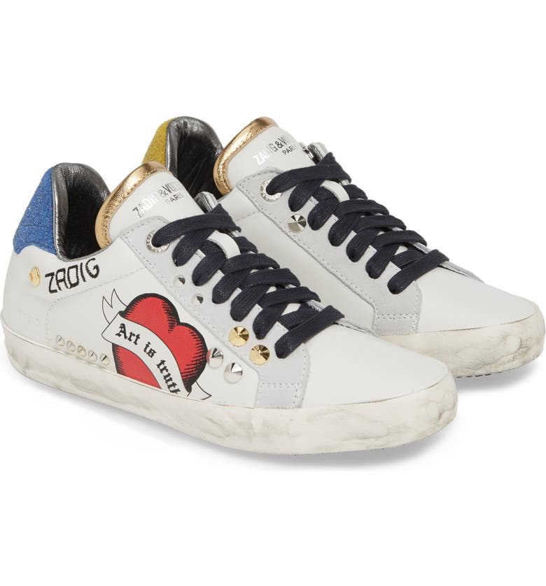 ZADIG & VOLTAIRE Used Sneaker, Main, color, BLANC
