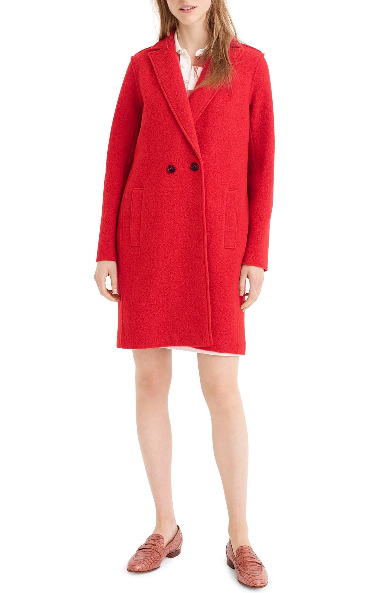 ,                             Daphne Boiled Wool Topcoat,                             Main thumbnail 32, color,                             601