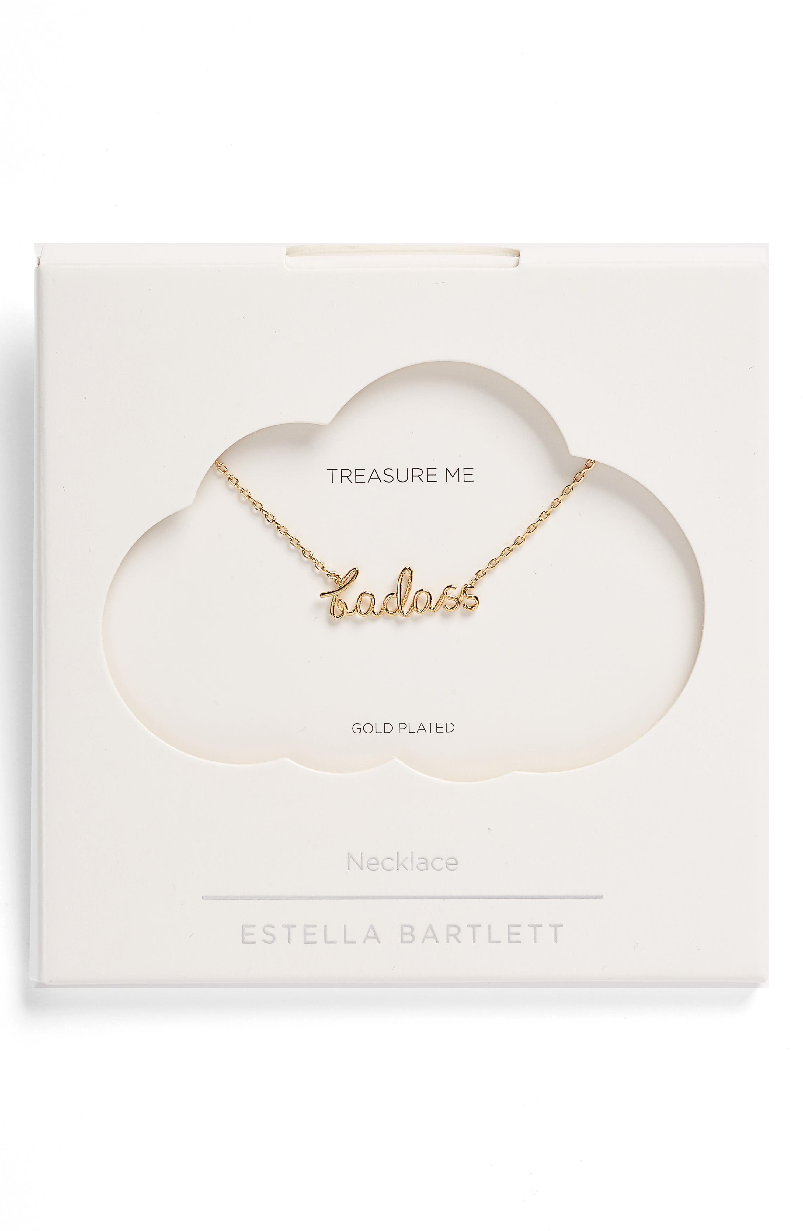 Badass Goldtone Pendant Necklace