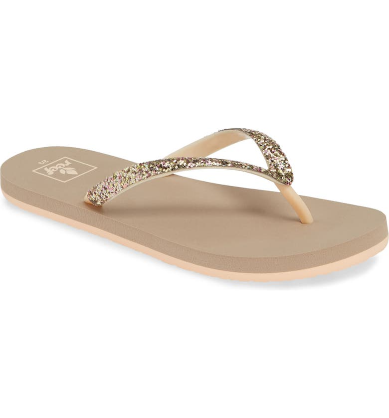 REEF Stargazer Glitter Flip Flop, Main, color, 040