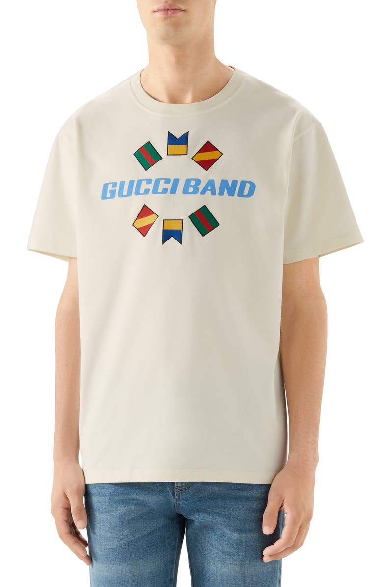 GUCCI Band Oversize Print T-Shirt, Main, color, 900