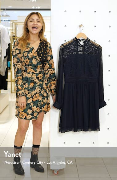 Laurina Long Sleeve Lace Fit & Flare Dress, sales video thumbnail
