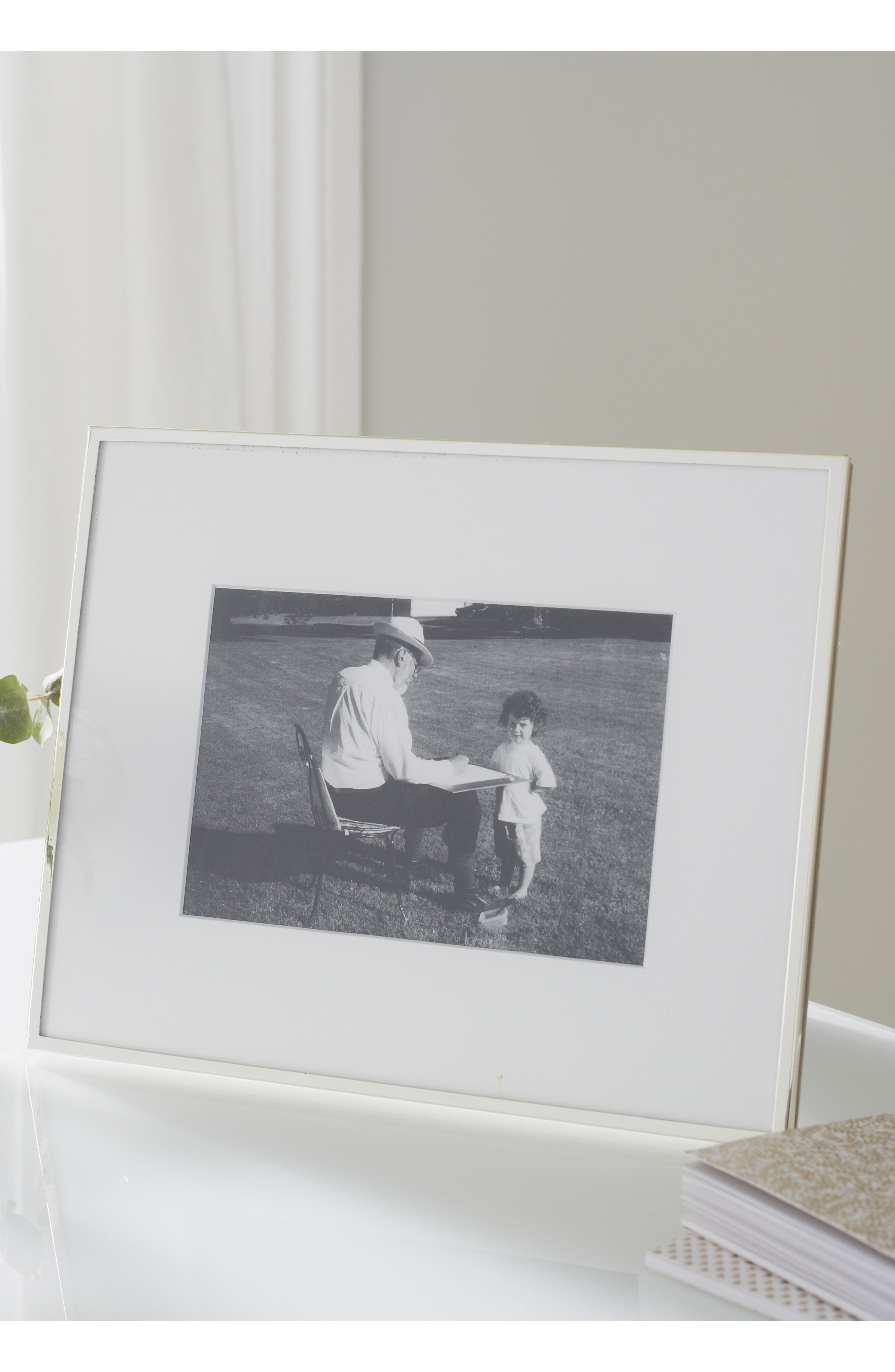 ,                             Fine Silver Plated Picture Frame,                             Alternate thumbnail 3, color,                             SILVER