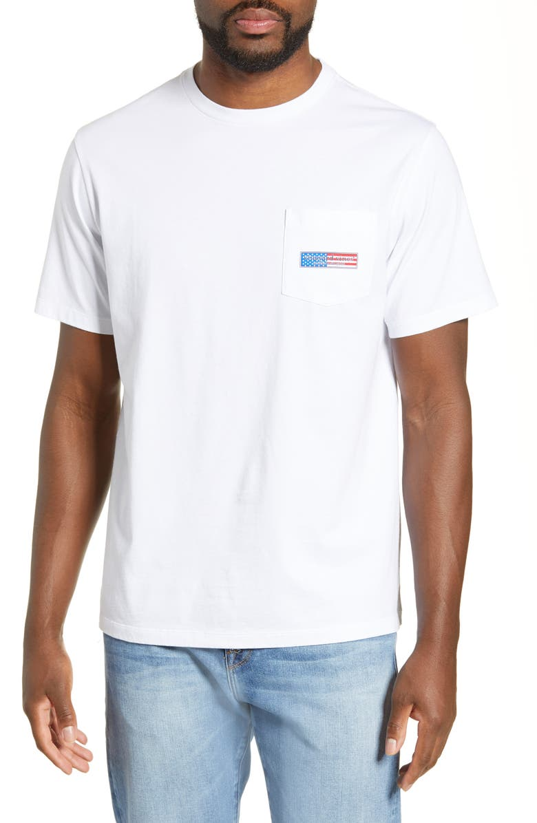Vineyard Vines Patriot Logo Pocket T Shirt