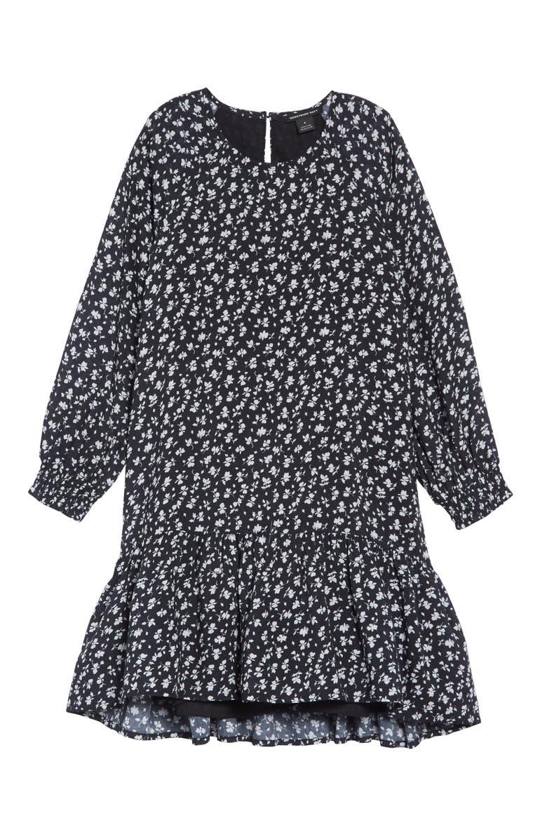 a417e810f Something Navy Ruffle High/Low Dress (Toddler Girls, Little Girls ...