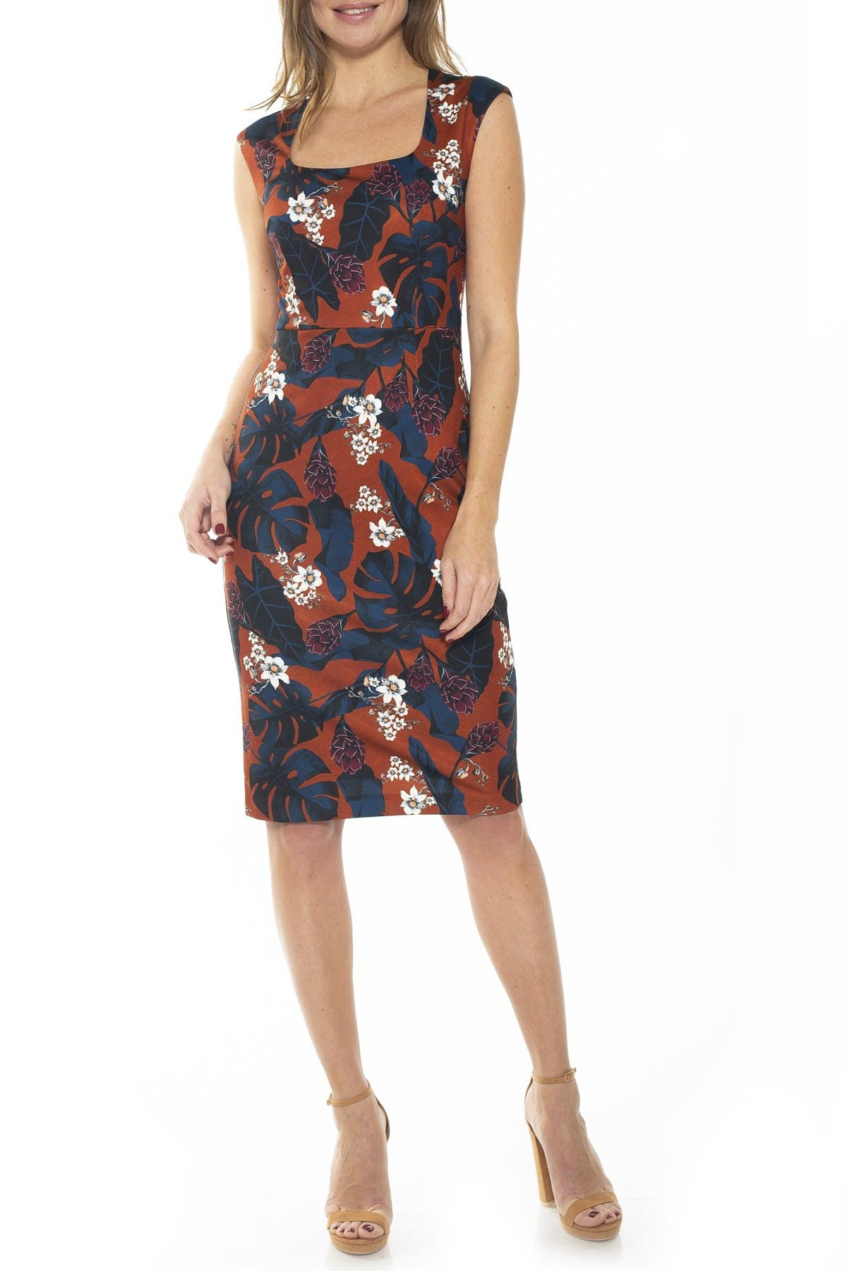 Image of Alexia Admor Ariana Scoop Neck Sheath Dress