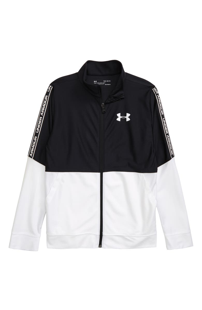 UNDER ARMOUR Prototype HeatGear<sup>®</sup> Full Zip Jacket, Main, color, BLACK/ WHITE