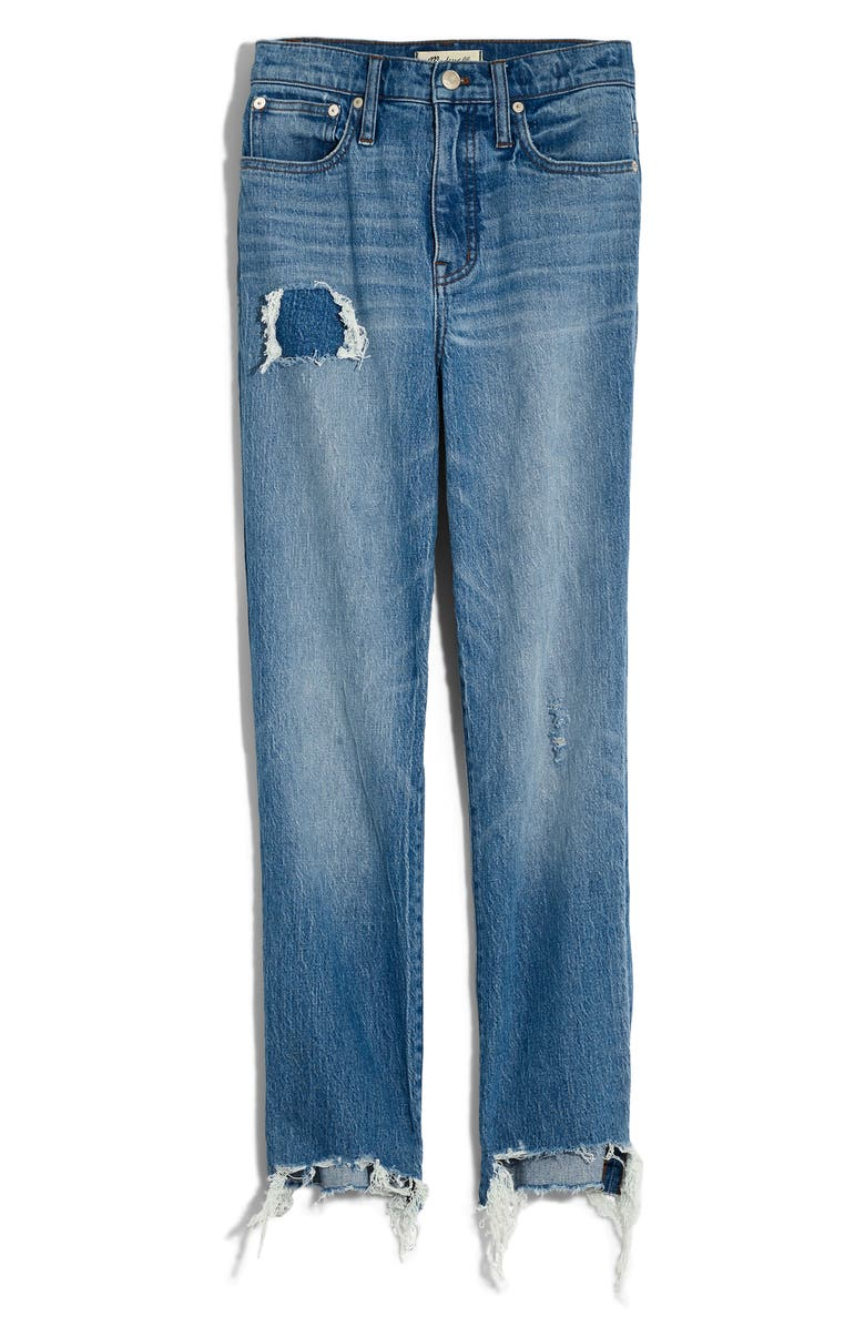 MADEWELL Step Hem Classic Straight Jeans, Main, color, CORRIE WASH