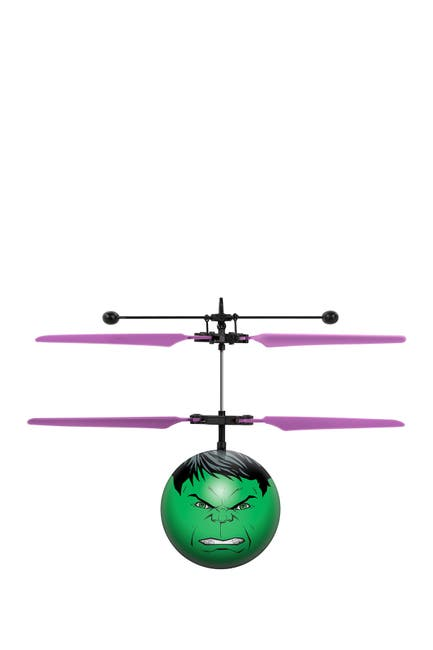 Image of World Tech Toys Marvel Avengers Hulk IR UFO Ball Helicopter