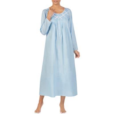 Eileen West Long Sleeve Nightgown, Blue