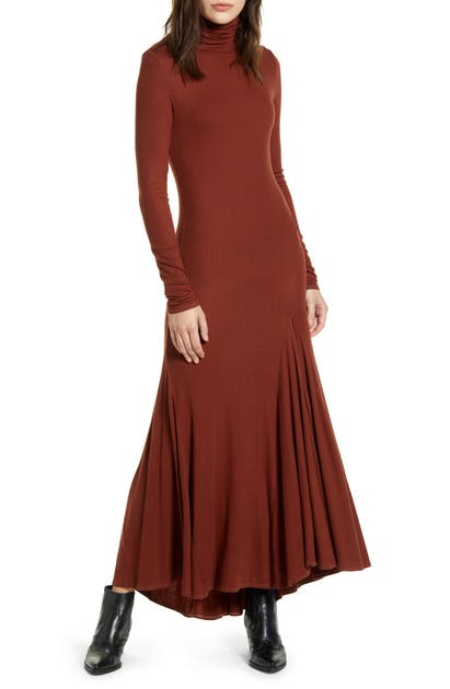 Ag Dresses CHELS FRONT SLIT LONG SLEEVE MAXI DRESS