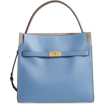 Tory Burch Lee Radziwill Leather Double Bag - Blue