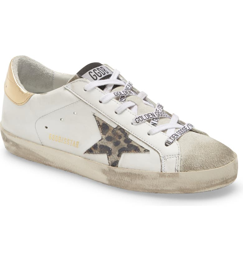 GOLDEN GOOSE Superstar Sneaker, Main, color, WHITE LEATHER/ GOLD