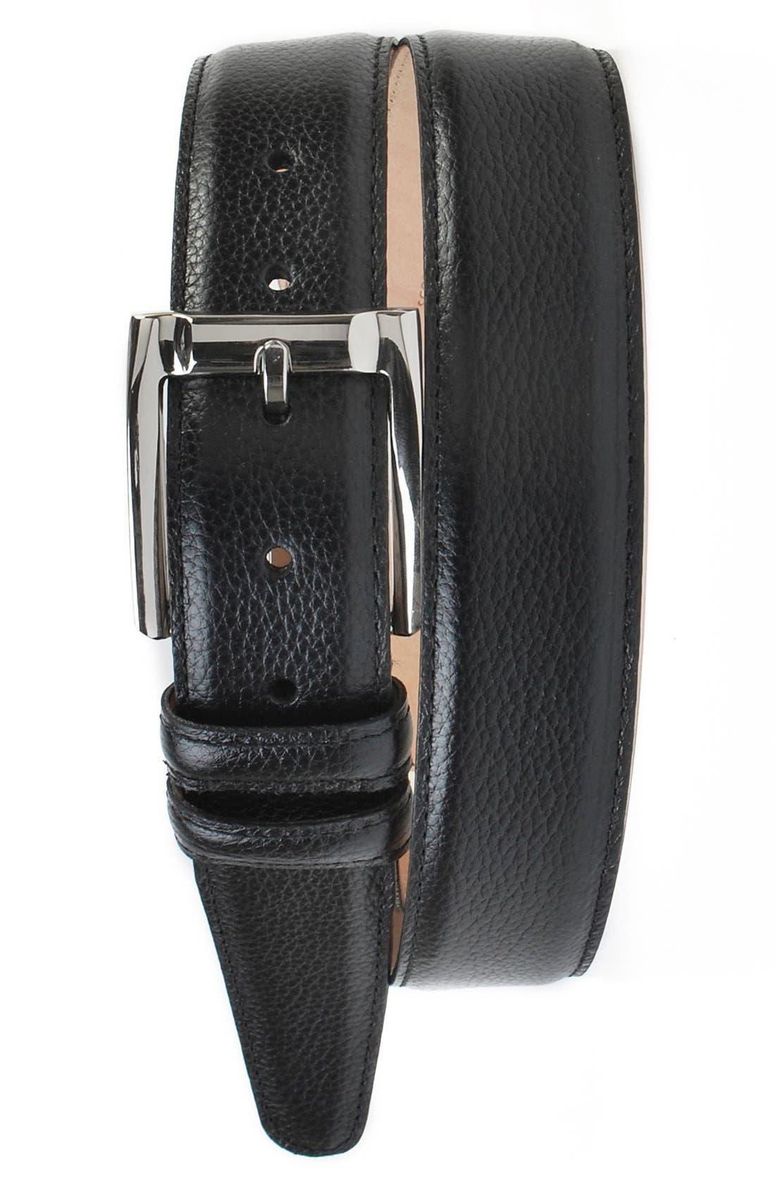 Martin Dingman Warren Scotch Grain Leather Belt