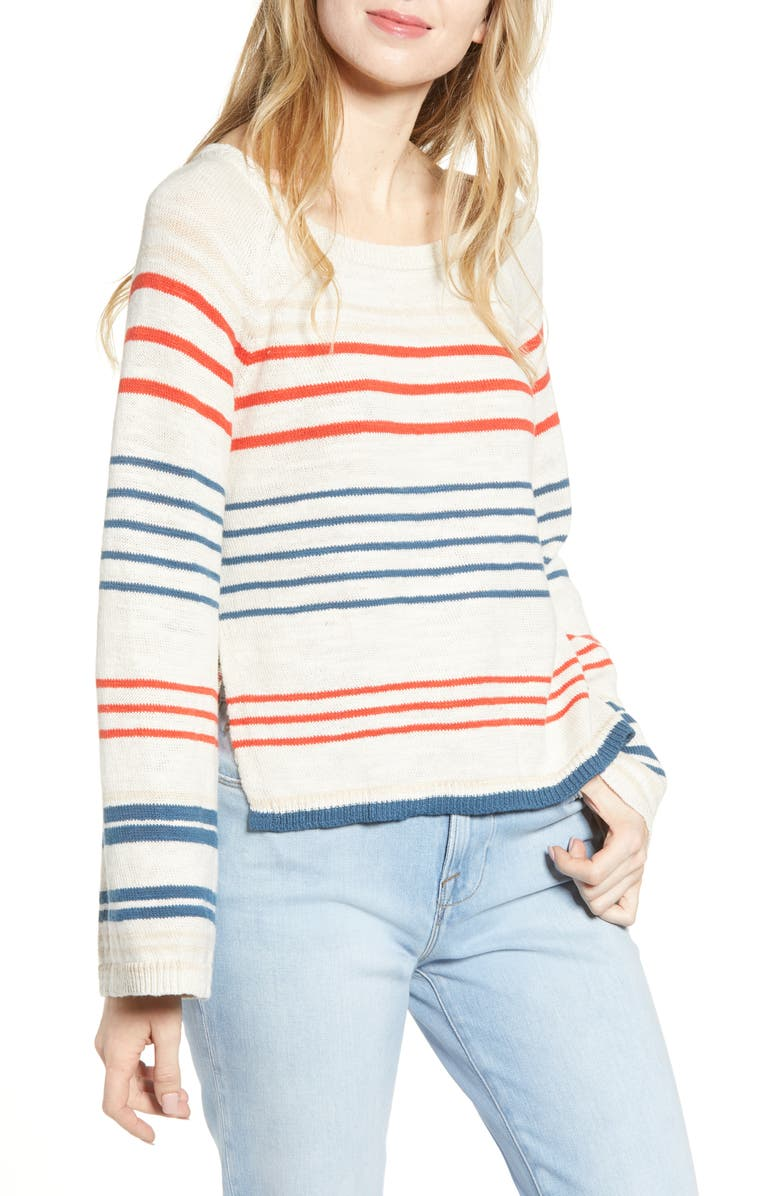 CUPCAKES AND CASHMERE Atlantis Stripe Sweater, Main, color, 250