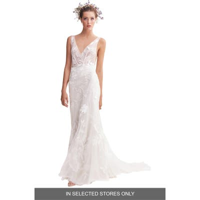 Willowby Honor Lace & Tulle Trumpet Wedding Dress