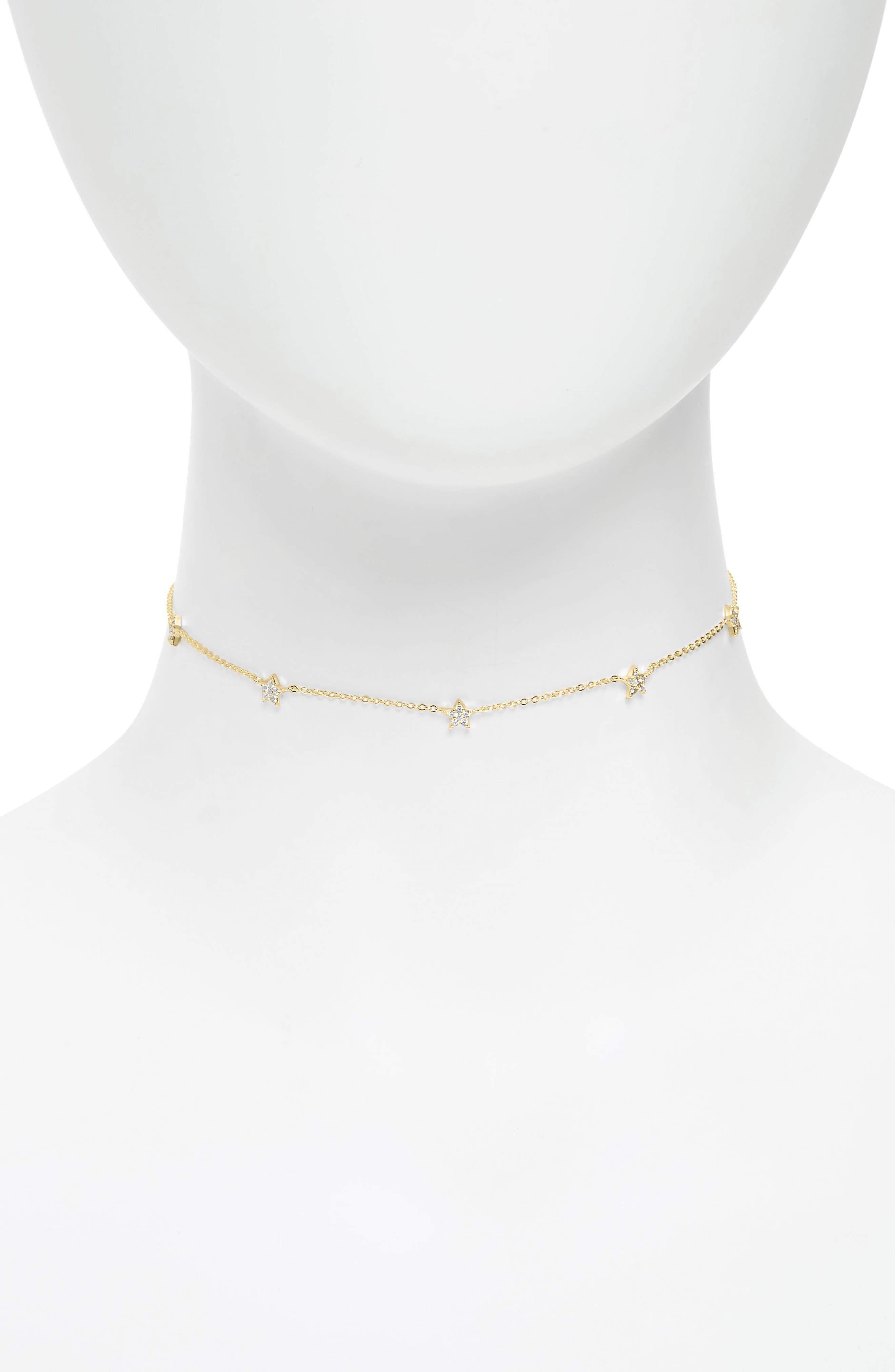 Women's Argento Vivo Pave Star Choker Necklace