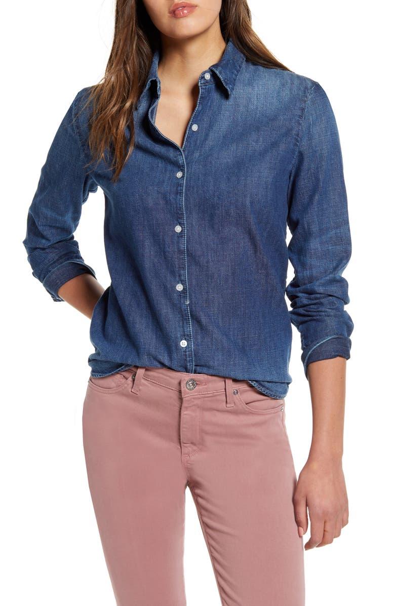 AG Cade Denim Shirt, Main, color, 439