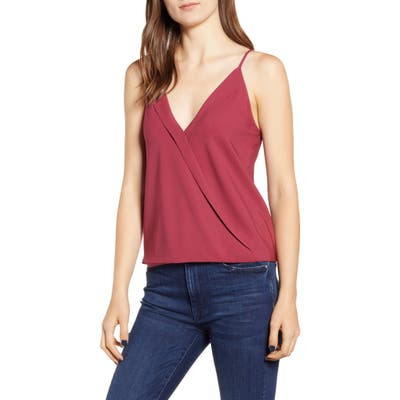 Chelsea28 Cross Front Camisole Top, Red