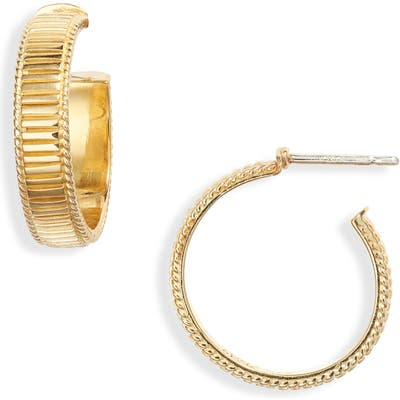 Anna Beck Ribbed Small Hoop Earrings