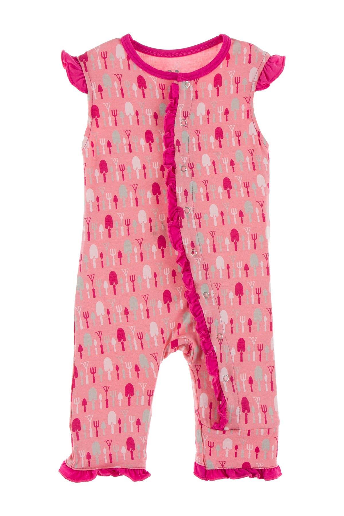 Image of KicKee Pants Printed Ruffle Romper