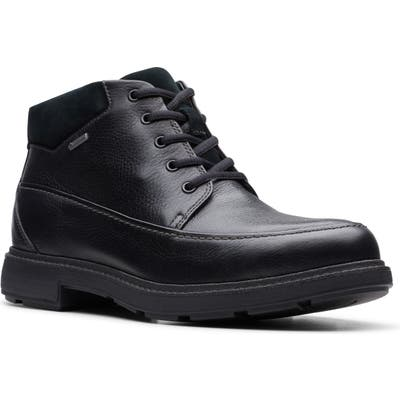 Clarks Un. tread Waterproof Moc Toe Boot- Black