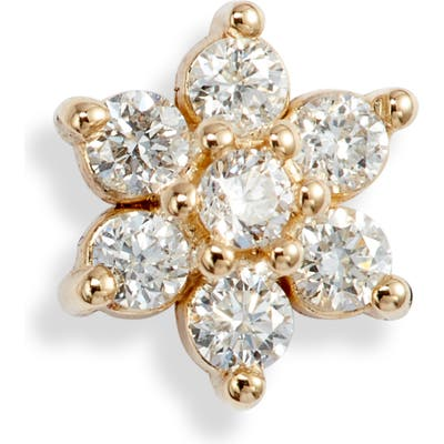 Zoe Chicco Diamond Floral Stud Earring