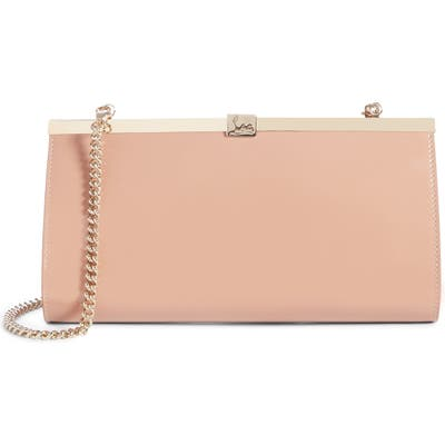 Christian Louboutin Palmette Patent Leather Frame Clutch -