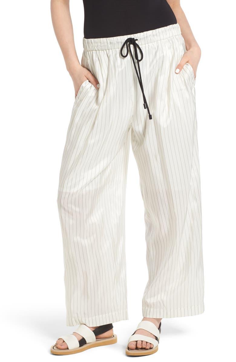 J KOO Pinstripe Trousers, Main, color, 100