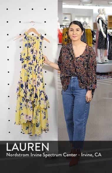 Floral Asymmetric Tiered Dress, sales video thumbnail