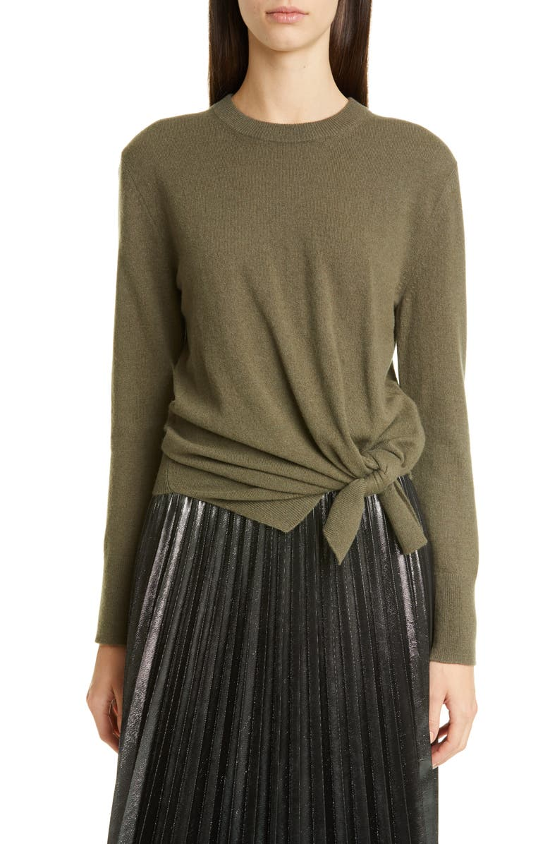 ALTUZARRA Side Tie Cashmere Sweater, Main, color, 300