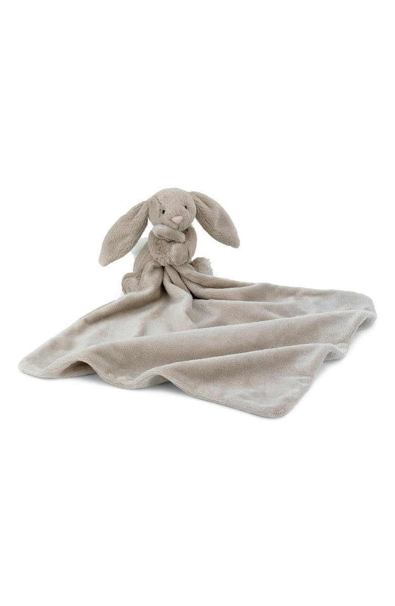 JELLYCAT 'Bunny Soother' Blanket, Main, color, BEIGE