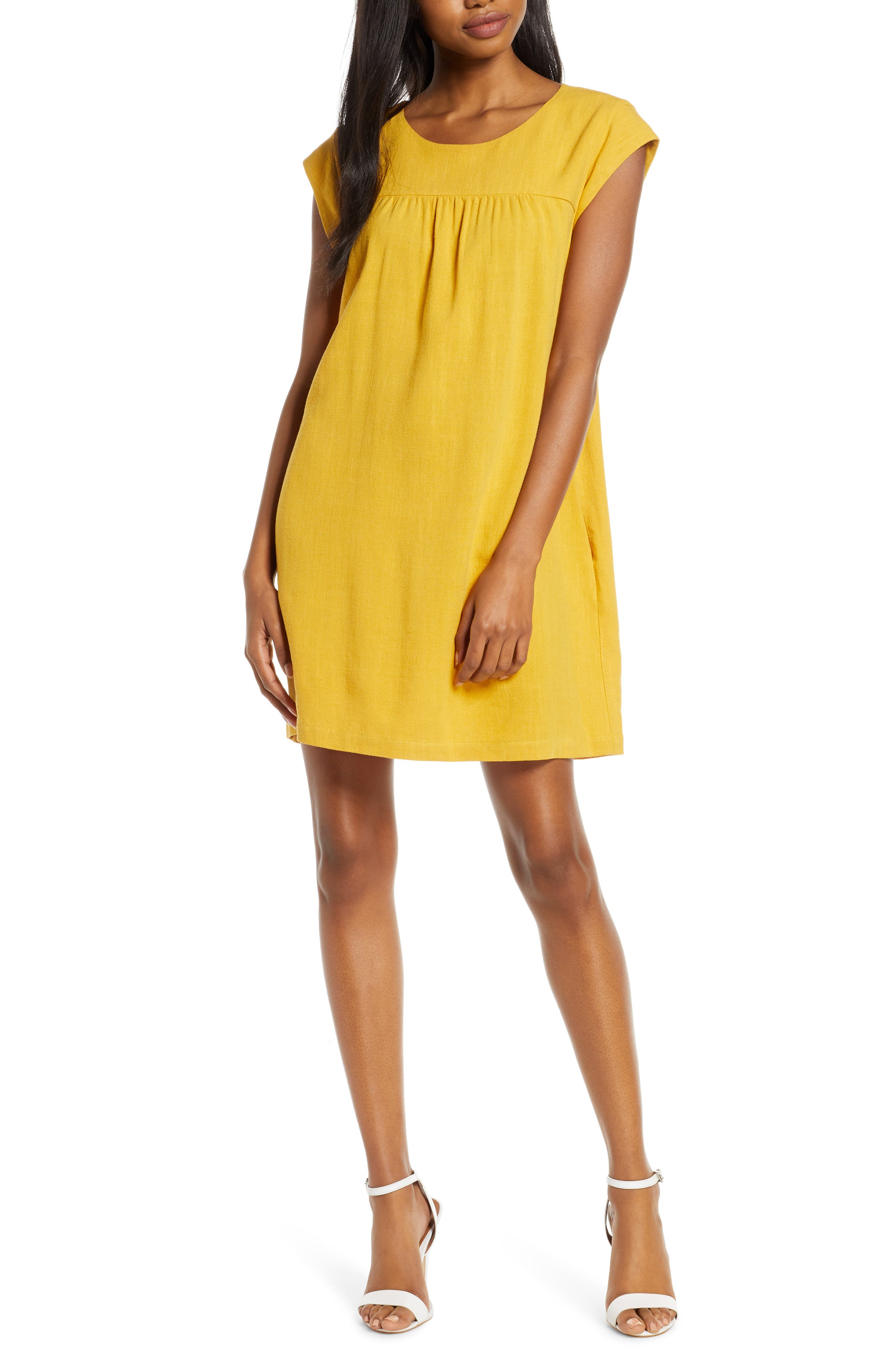 Chelsea28 Casual Shift Dress, Yellow