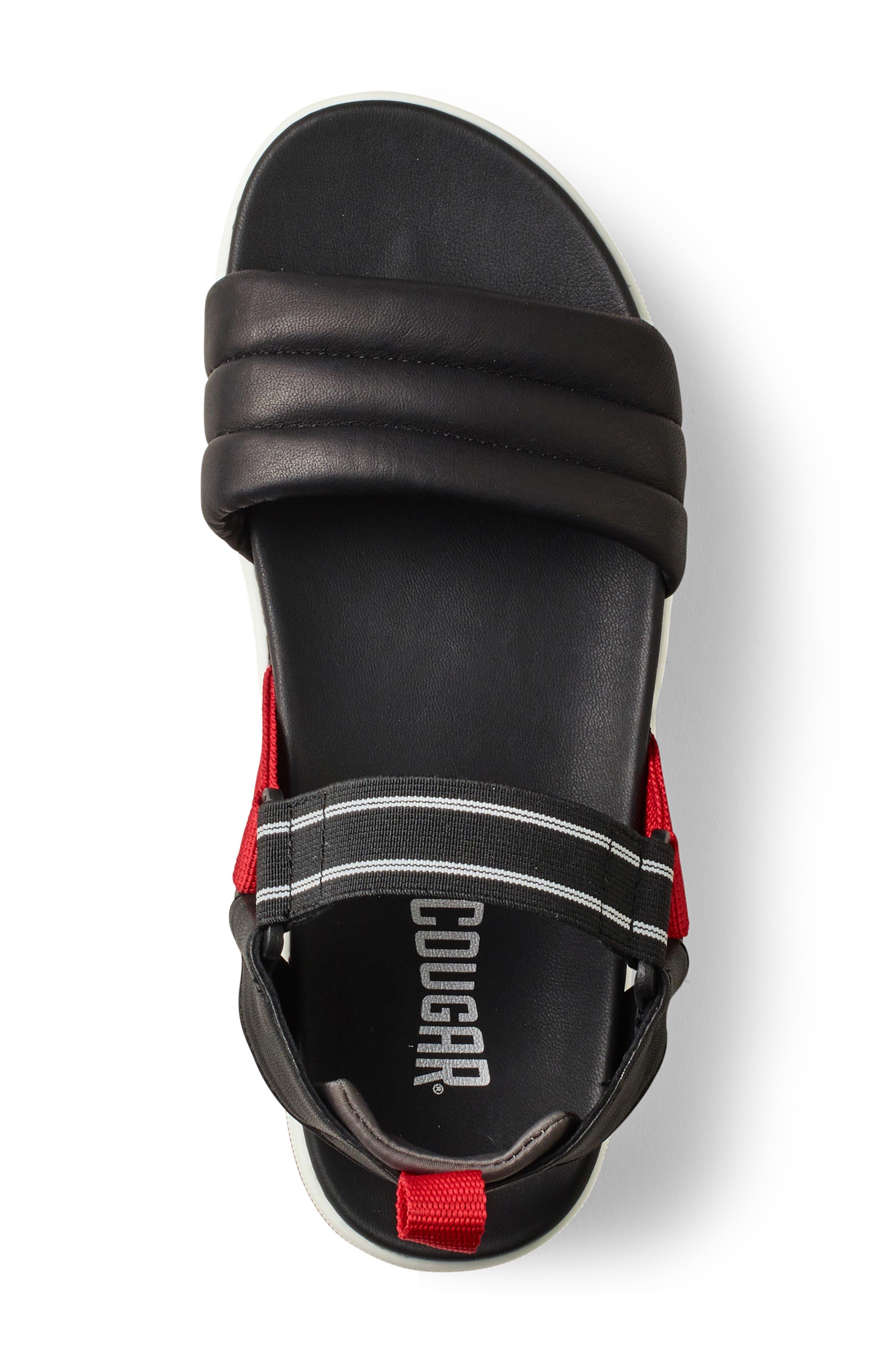 ,                             Pippy Platform Sandal,                             Alternate thumbnail 3, color,                             BLACK/ RED LEATHER