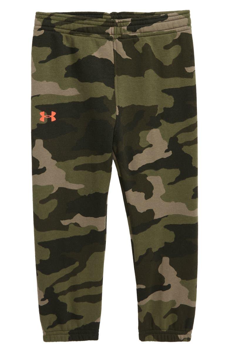 UNDER ARMOUR Bandit Camo Fleece Jogger Pants, Main, color, OUTPOST GREEN BANDIT CAMO