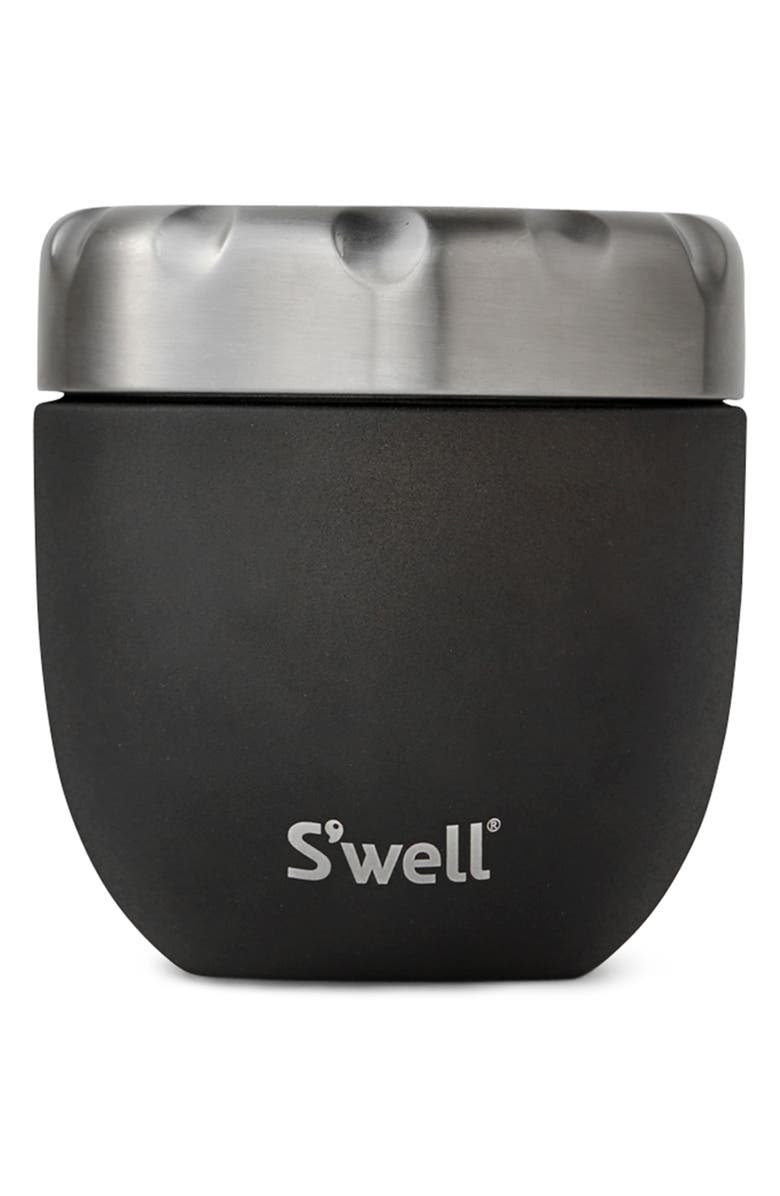 S'WELL Onyx Eats<sup>™</sup> Insulated Stainless Steel Bowl & Lid, Main, color, 001