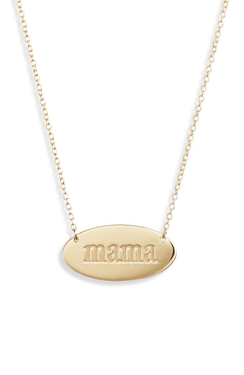 JENNIFER ZEUNER Zoey Pendant Necklace, Main, color, YELLOW GOLD VERMEIL