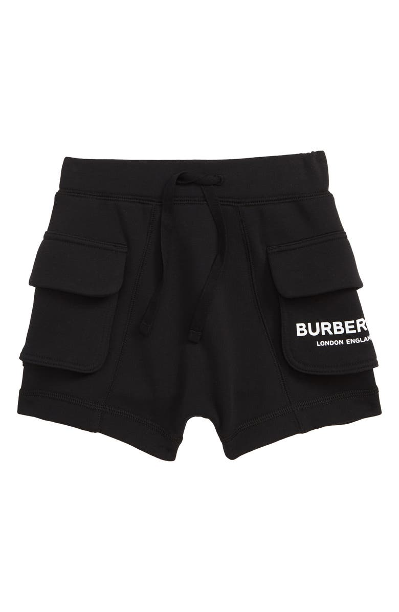 BURBERRY Knit Shorts, Main, color, BLACK