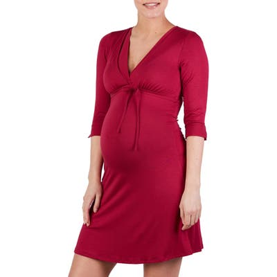 Cache Coeur Milk Maternity/nursing Nightgown, Red