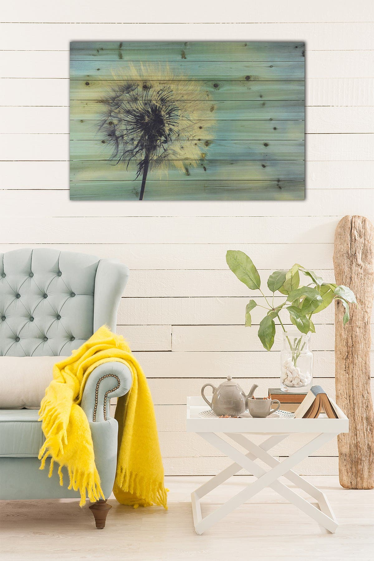 """Image of Gallery 57 Dandelion Large Wooden Wall Art - 36"""" x 24"""""""