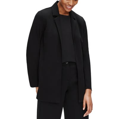 Eileen Fisher Notch Collar Jacket, Black
