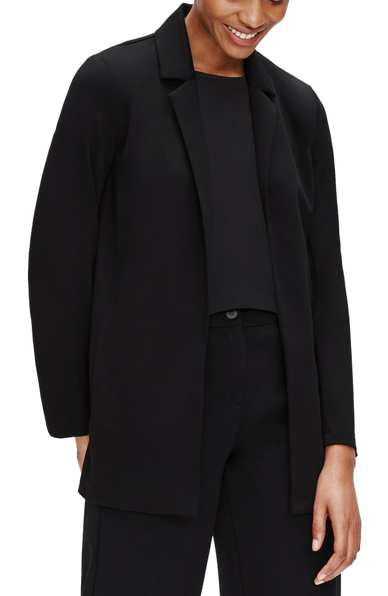 EILEEN FISHER Notch Collar Jacket, Main, color, 001
