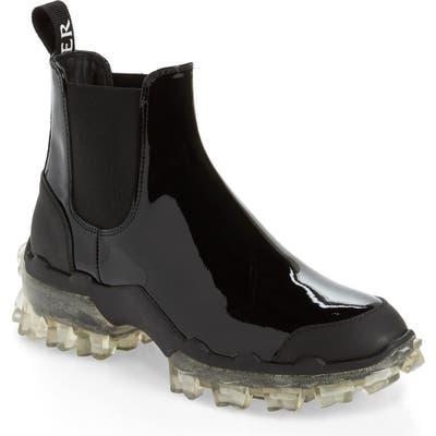 Moncler Hanya Stivale Waterproof Chelsea Rain Boot, Black