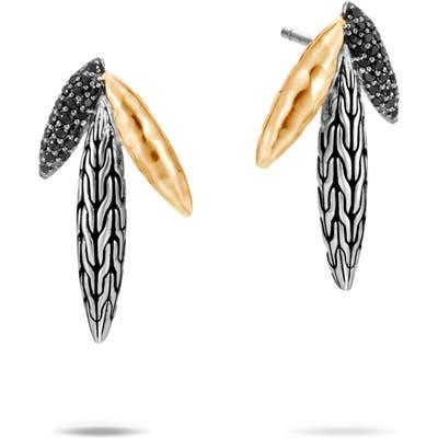 John Hardy Classic Chain Hammered Spear Two-Tone Earrings