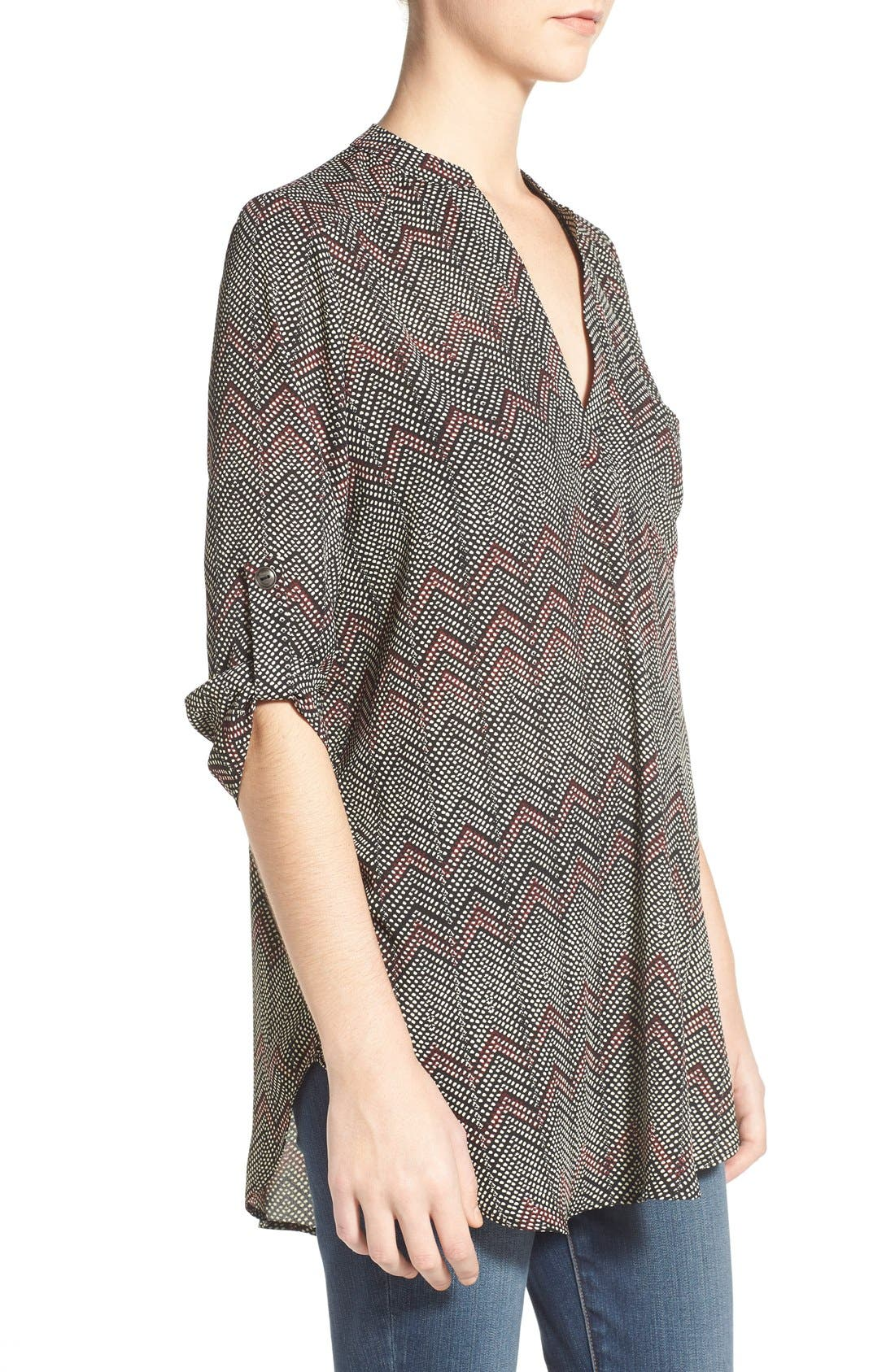,                             Perfect Roll Tab Sleeve Tunic,                             Alternate thumbnail 179, color,                             007