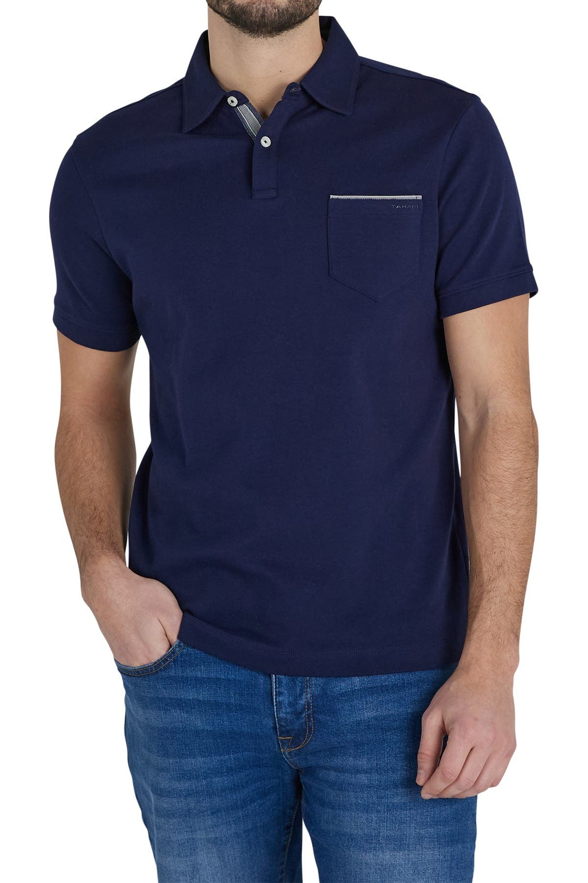 Image of Tahari Updated Interlock Polo Shirt